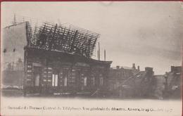 Antwerpen Anvers Melkmarkt  Uitgebrande Telefooncentrale Groote Brand Van 1907 - Antwerpen