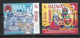 Irlande 2020 Série Neuve Galway Et Rijeka, Capitales De La Culture - Ongebruikt