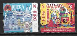 Irlande 2020 Série Neuve Galway Et Rijeka, Capitales De La Culture - 1949-... Republic Of Ireland