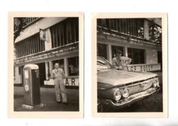"""VOITURE AMÉRICAINE """" & """" POMPE À ESSENCE """" . 2 PHOTOS - Réf. N°24337 - - Automobiles"""