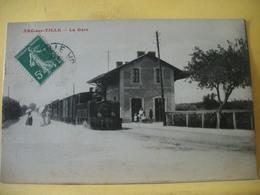 H 3768 CPA ORIGINALE. 21 ARC SUR TILLE. LA GARE - ANIMATION. TRAIN EN GARE - Other Municipalities