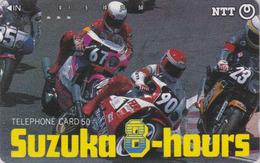 TC JAPON / NTT 290-186 A - Course MOTO TBE - MOTOR BIKE Racing SUZUKA 8 HOURS - JAPAN Phonecard - Motorräder