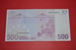 500 EURO NETHERLANDS  F001F3 - DUISENBERG - P36004530124 - CIRCULATED - EURO
