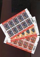 Belgie 2003 Nr 3218/20 Books Printing Literature Full Sheet Plaatnummer 232 - Belgien