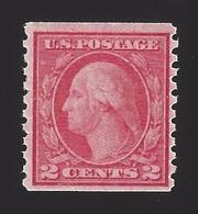 US #492 1916-22 Carmine Type III Unwmk Perf 10 Vert Mint OG LH F-VF Scv $9 - Unused Stamps