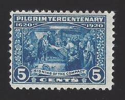 US #550 1920 Deep Blue Perf 11 Unwmk Mint OG LH F-VF SCV $35 - Unused Stamps