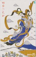 TC JAPON / NTT 290-193 A - Peinture TBE - MONT FUJI & Femme - Woman & Mountain - Painting JAPAN Phonecard - Japon