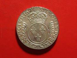 France - Écu Aux Palmes 1694 L Bayonne Louis XIV 8062 - 1643-1715 Louis XIV Le Grand