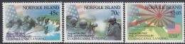 NORFOLK Is, 1992 GUADALCANAL 3 MNH - Norfolk Eiland