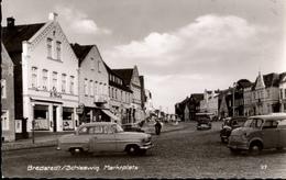 ! 1965 Ansichtskarte Bredstedt, Marktplatz, Schleswig-Holstein, Autos, Cars - Bredstedt