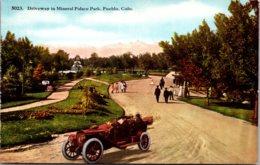 Colorado Pueblo Driveway In Mineral Palace Park - Pueblo