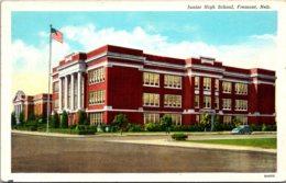 Nebraska Fremont Junior High School 1944 Curteich - Fremont