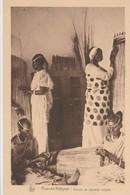 CONGO BELGE OUVROIR DE VANNERIE INDIGENE RUANDA KABGAYE - Belgisch-Kongo - Sonstige