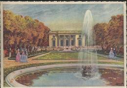 """Le Château De Versailles - Illustration Charles Homualk - """"Le Petit Trianon""""- Carte N° 9 - Homualk"""