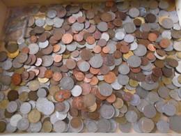LOTTO  3,5 KG  CIRCA  MONETE   ITALIANE E STRANIERE - 1971-… : Decimal Coins