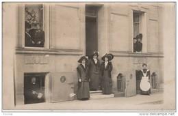 R18- 33) CAUDÉRAN (GIRONDE) CARTE PHOTO DU 21 MARS 1911 - MAISON AVEC HABITANTS - 5 , AVENUE DE MIRMONT     - (3 SCANS) - France