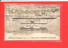 Aéroplane Hydravion CAUDRON Type G 3 Cpa Hydro Mixte Terrestre Et Maritime   Edit Le Deley - ....-1914: Precursors