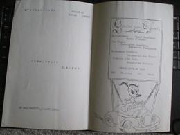 Compagnie Maritime Belge 1952  Antwerpen Matadi Gouter Pour Enfants Donald Duck Disney - Menus