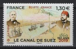 France (2019) - Set - /  Egypt Joint Issue - Suez Channel - Ships - Bateaux - Schiffe - Emissions Communes
