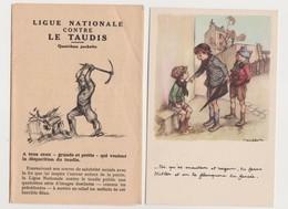 6 Cpa Signées Poulbot  + Pochette  /Ligue Nationale Contre Le Taudis + Cité Jardins D'Orly ( Seine) Marqué Sur 2 Cpa - Poulbot, F.