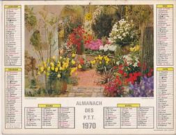 Calendrier 1970 ALMANACH Des P.T.T. / CHATEAU De CHAMBORD / FLORALIES D'ORLEANS / MARNE 51 - Calendriers
