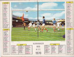 Calendrier 1970 ALMANACH Des P.T.T. / FOOT-BALL / DANSE BASQUE / MARNE 51 - Calendriers