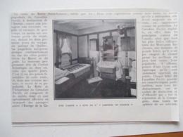 Canadian Pacific Steamship  Paquebot RMS Empress Of France - Une Cabine -  Coupure De Presse 1926 - Bateaux