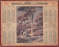 Calendrier 1933 ALMANACH Des Postes Et DesTélégraphes / SAINT-RAPHAËL (Les Pins Parasols Du Golf) / PLAN METROPOLITAIN - Grand Format : 1921-40