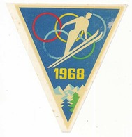 Décalcomanie X° Jeux Olympiques D'Hiver De GRENOBLE 1968 Olympic Games 68 Le Saut Discipline De Ski Nordiaque - Jeux Olympiques