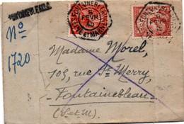 Fontainebleau 1945 - Cachet Hexagonal & Griffe - 1921-1960: Modern Tijdperk