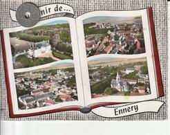 95 - Très Belle Carte Postale Semi Moderne Dentelée De   ENNERY    Multi Vues - Ennery
