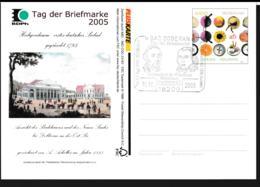 Germany Pluskarte 2004 Europa CEPT W/print Tag Der Briefmarke 2005 - Used (G109-44) - [7] Federal Republic