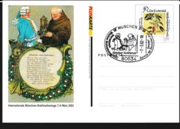 Germany Pluskarte Flowers W/print Münchner Briefmarkentage 2002 - Used (G109-44) - Postales Privados - Usados