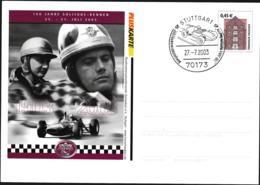 Germany Pluskarte Tönningen W/print 100 Jahre Solitude-Rennen 1903-2003 - Used (G109-44) - Postales Privados - Usados