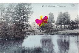 MONTAIGU - Villa Du Lac - Carte Colorée Et Circulé En 1912 - Scherpenheuvel-Zichem