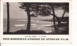 Horaires De Nice-Marseille-Avignon En Autocar PLM - 1927 - - Europe