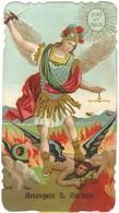 Lotto N. 3 Santini Fustellati San Michele Arcangelo Con Orazione (387-388, 392) - Images Religieuses
