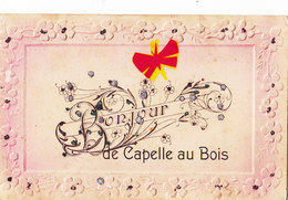 Bonjour De CAPELLE AU BOIS - Carte Gaufrée Avec Petits Brillants - Kapelle-op-den-Bos