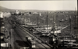 Cp Greichenland, Hafenpartie, Tram, Boote - Griechenland