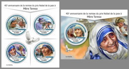 GUINEA REP. 2019 MNH Mother Teresa Pope Jon Paul II. Lady Diana M/S+S/S - IMPERFORATED - DH1929 - Mère Teresa