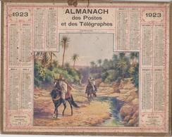 Calendrier 1923 ALMANACH Des Postes Et DesTélégraphes / L'OUED SAADA (Algérie) - Grand Format : 1921-40