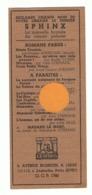 """Marque Pages Publicitaire - Edition """" LE SPHINX """" Paris & Liège Librairie, Roman, Livre,... ( B260/5) - Marque-Pages"""