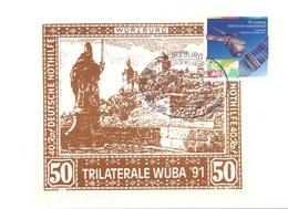 GERMANY TRILATERALE WUBA  91   POST CARD  (FEB20809) - Giornata Del Francobollo