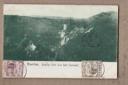 CPA ILE MAURICE - MAURITIUS Tamarin Falls ( Les Sept Cascades ) - SUPERBE PLAN NATURE + TB Oblitération Timbres 1909 - Mauritius