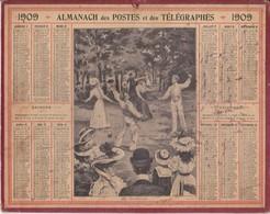 Calendrier 1909 ALMANACH Des Postes Et DesTélégraphes / LE DIABOLO - Calendriers