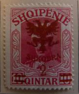 Albanie 1920 Y&T N° 98 2 Q.s.10 P. Rose - Neuf * - Albania