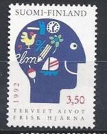 Finlande 1992 N°1134 Santé Du Cerveau - Finland