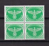 Feldpostmarken - 1944 - Michel Nr. 4 - Viererblock - Postfrisch - Deutschland