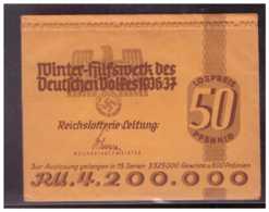 Dt- Reich (W00109) Propaganda Winter- Hilfswerk Des Deutschen Volkes 1936/37 Lotterielos Ungeöffnet!! - Alemania