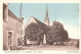 Dépt 41 - PRUNIERS-EN-SOLOGNE - Le Monument Sur La Place - (CIM - Combier Imp. Mâcon) - église - Andere Gemeenten